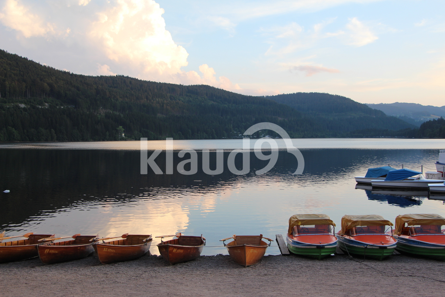 Parking boats in lake Titisee, Germany