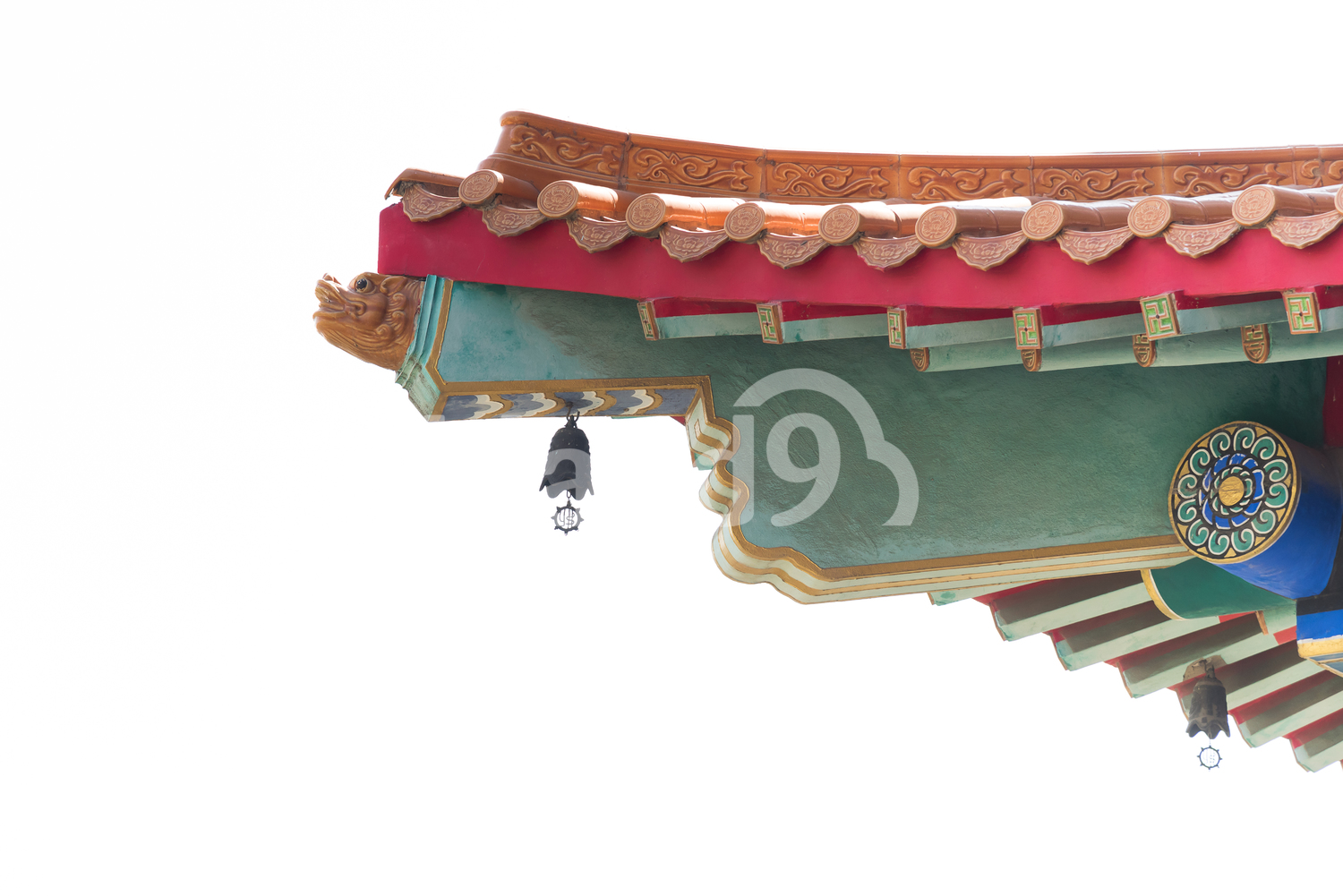 Chinese style temple roof.