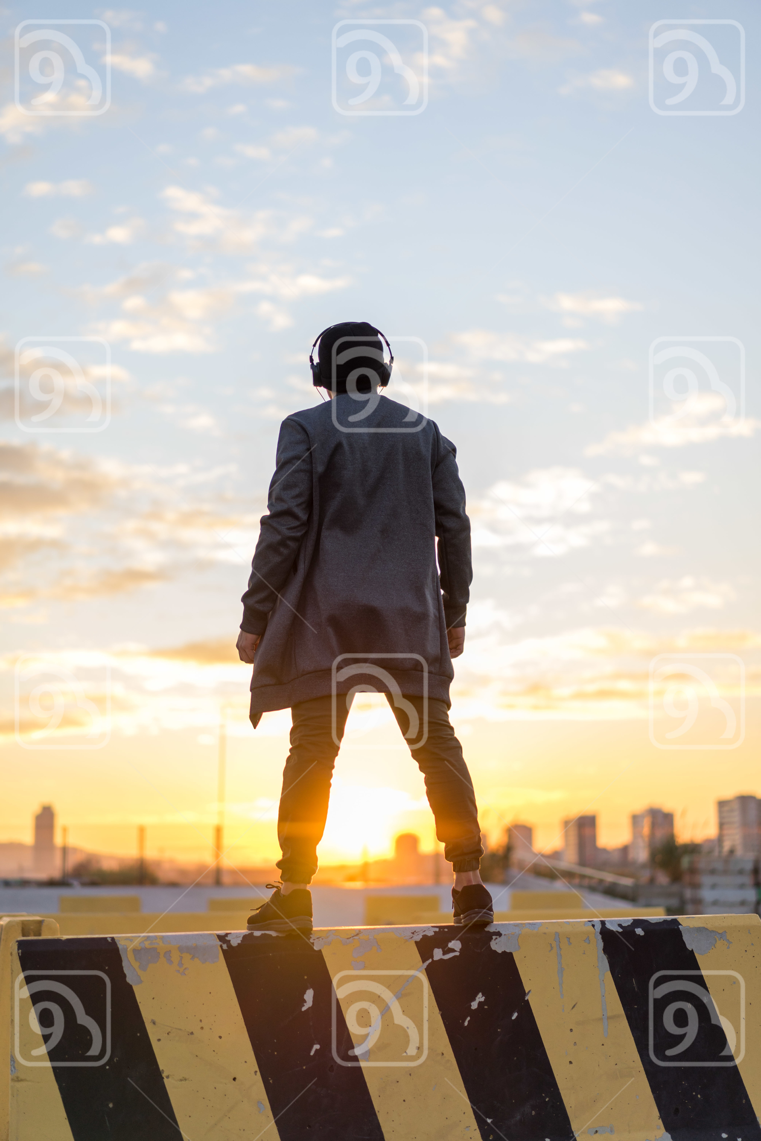 Man enjoying sunset