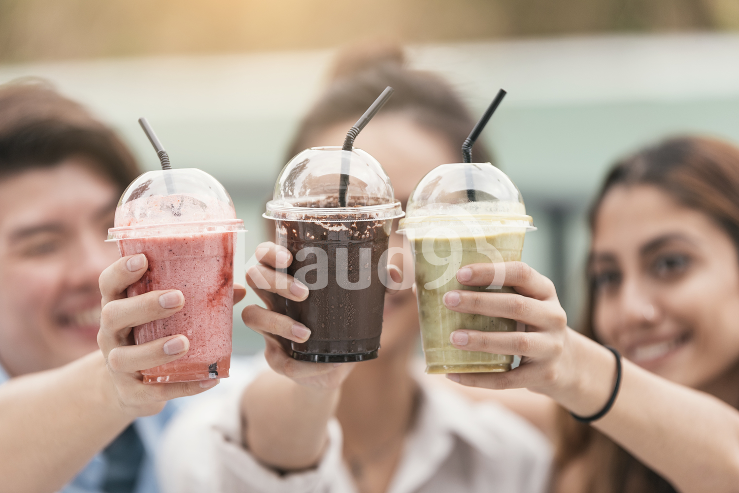 Toasting to friendship with beverages