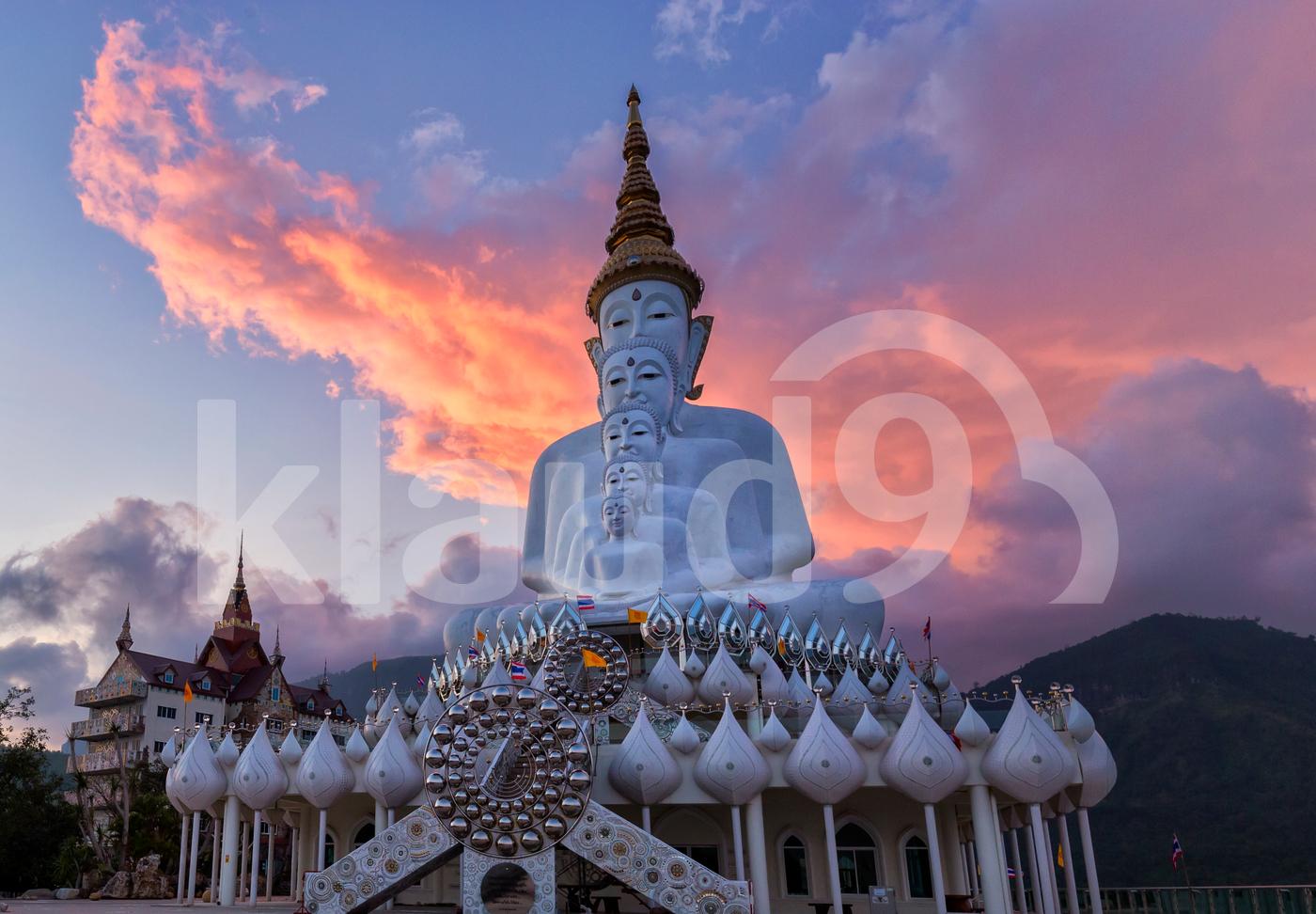 Fiery Sky Above Buddha