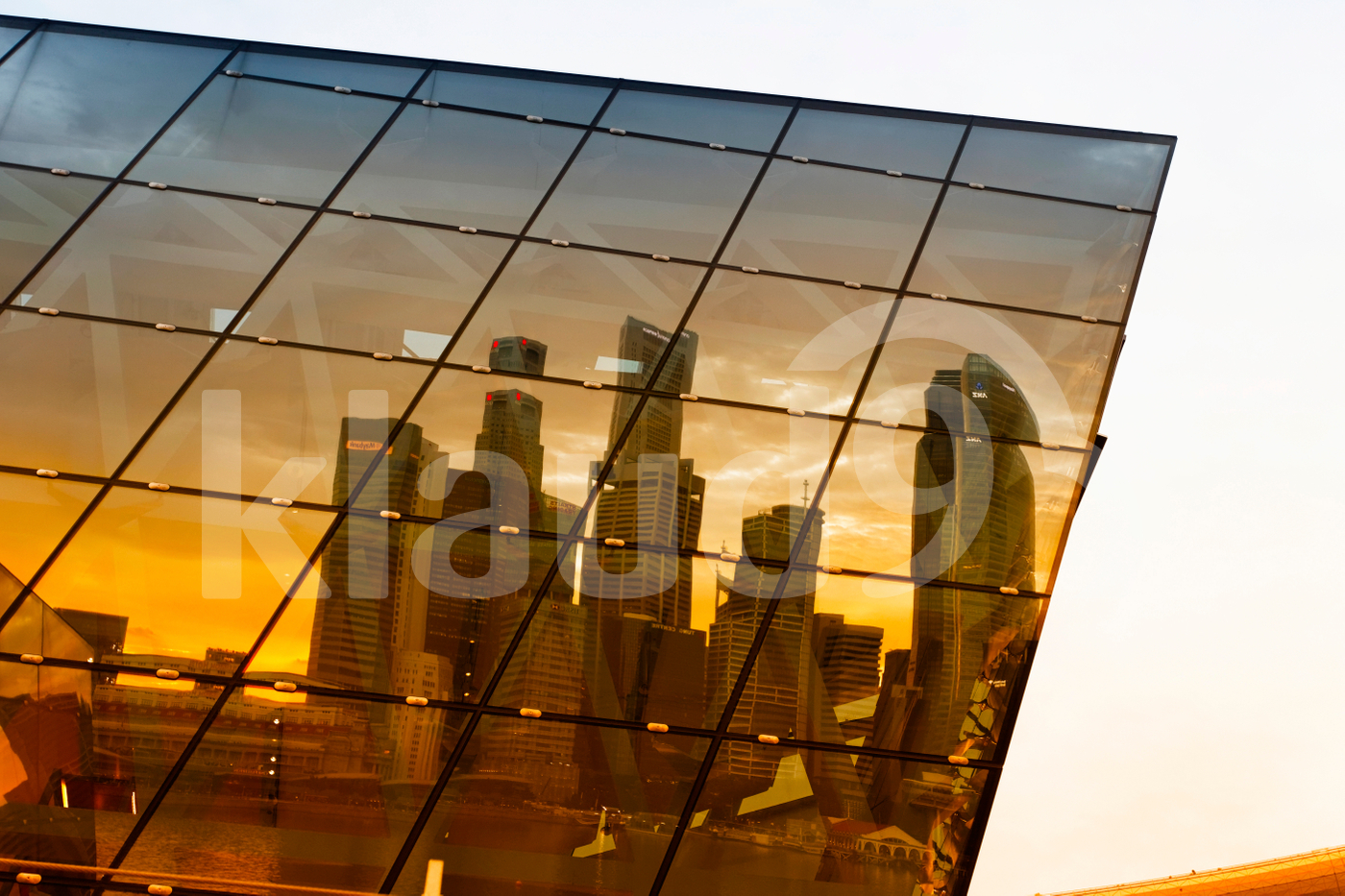 Reflection of skyscrapers in Singapore