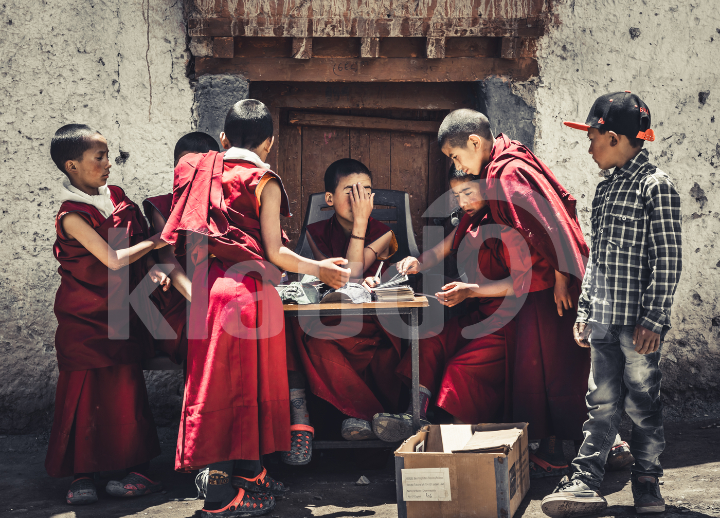 Young Monks Brainstorming