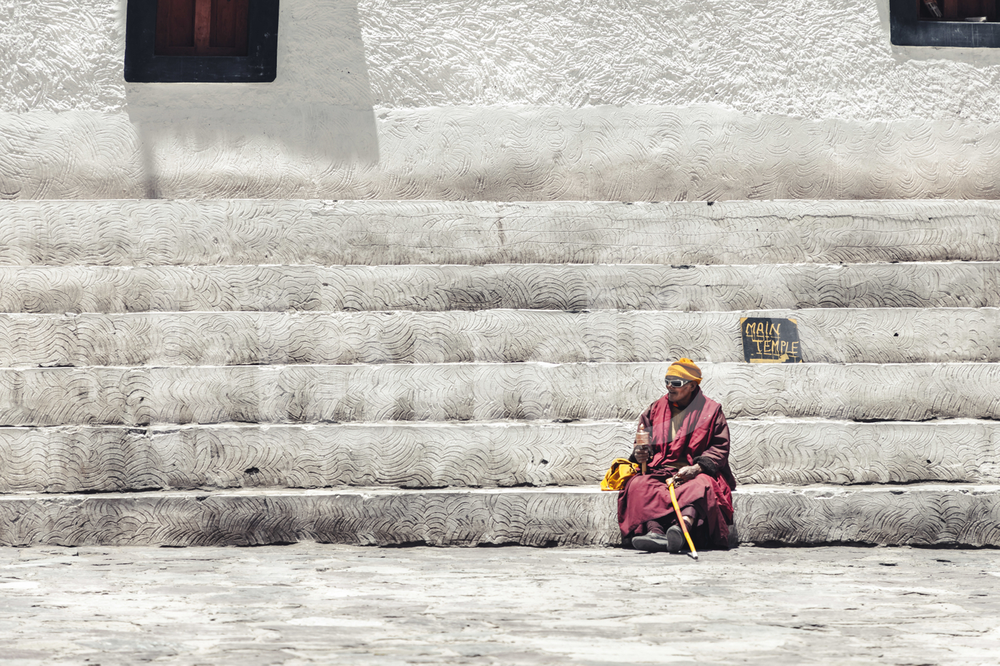 Resting Old Monk