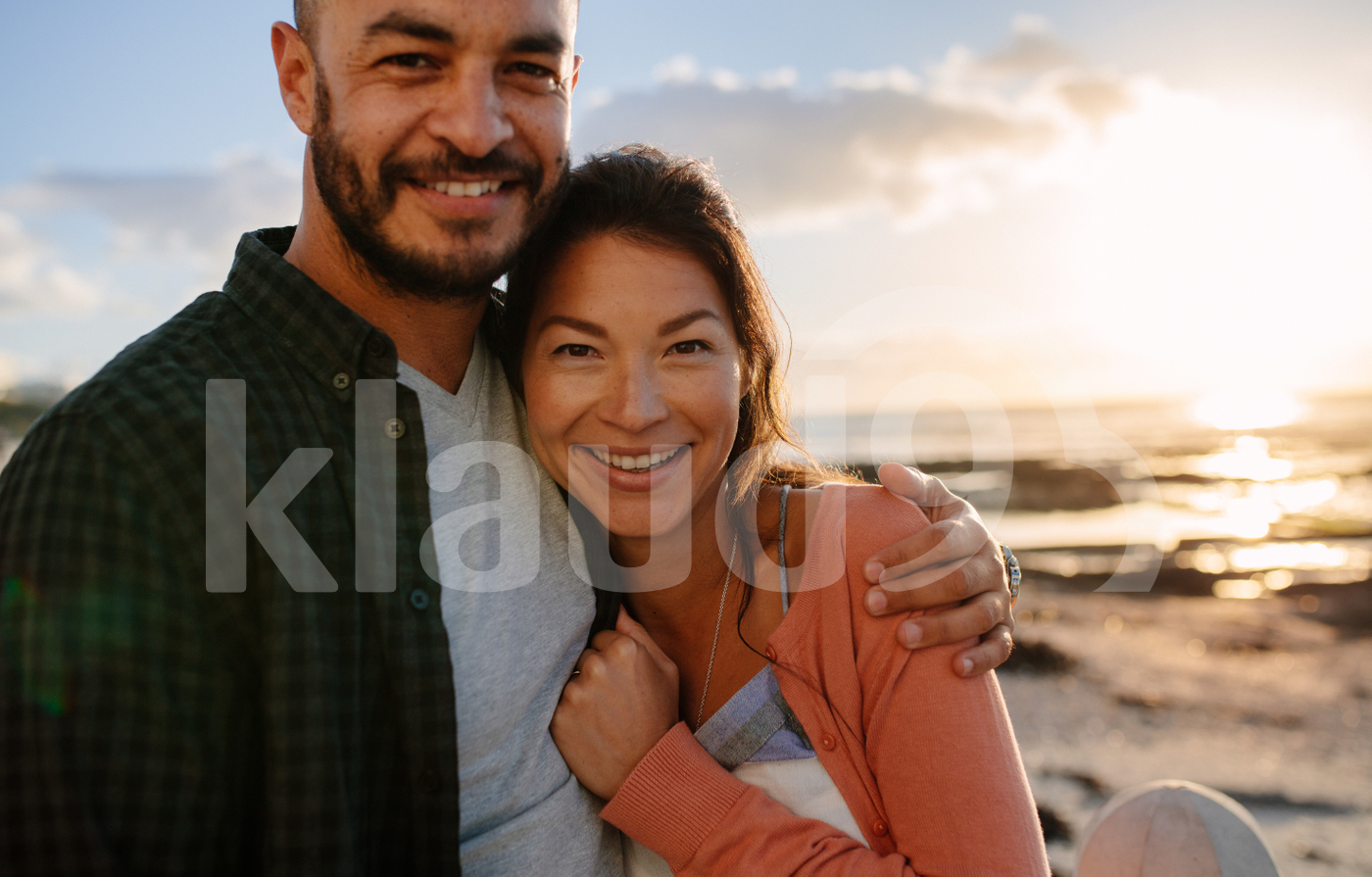 Couple on a vacation near the sea