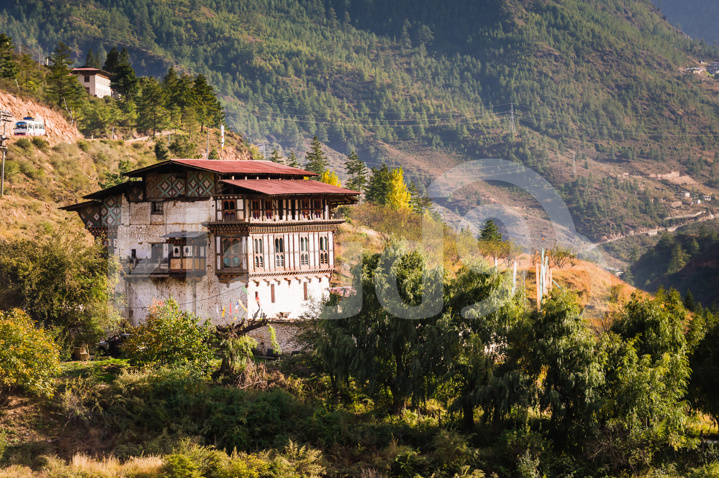 Traditional Bhutanese house